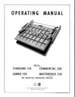 Older Model Seal Dry Mount Laminating Press Owners Manual