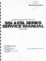 Eiki SSL & ESL 16mm Sound Projector Service and Parts Manual