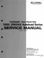 Bell & Howell / Eiki 3585, 3592, 3592AX Service and Parts Manual