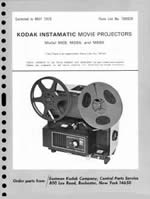 Kodak 8mm Instamatic M68, M68A and M68K Projector Parts Manual