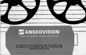 GAF Anscovision 8mm and Super 8 Movie Projector Owner's Manual