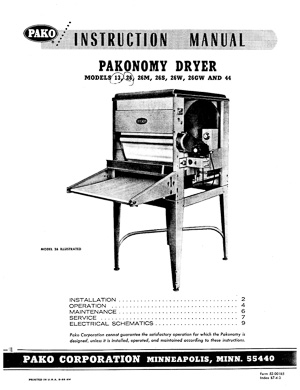 Pako Pakonomy Photo Paper Dryer Instruction Manual